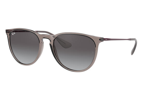 Ray-Ban Sunglasses ERIKA COLOR MIX Shiny Transparent Grey with Szary Gradalne lens