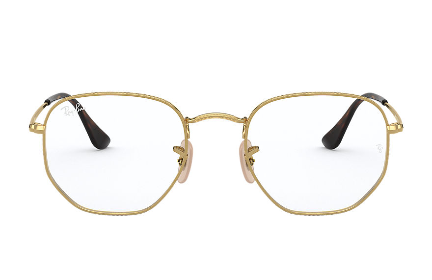 Ray-Ban Eyeglasses HEXAGONAL OPTICS Shiny Gold
