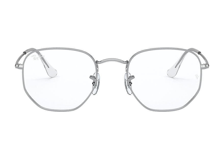 Ray-Ban  eyeglasses RX6448F UNISEX 001 hexagonal optics shiny silver 8056597370042