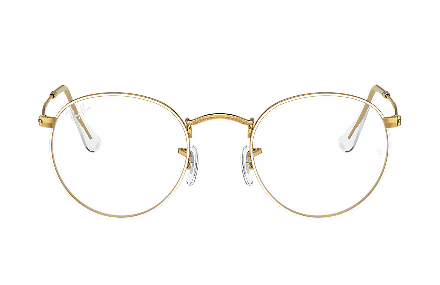 레이밴 Eyeglasses ROUND METAL OPTICS 화이트