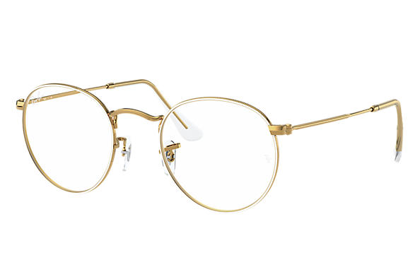 Ray-Ban Eyeglasses ROUND METAL OPTICS Wit