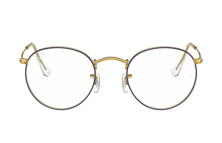 Ray-Ban  eyeglasses RX3447V UNISEX 002 round metal optics 블루 8056597370110