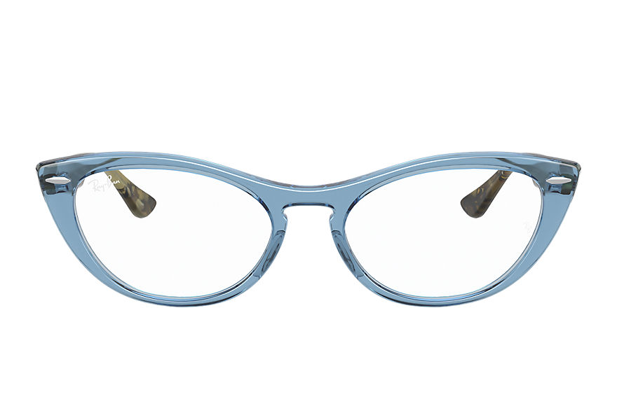 Ray-Ban  eyeglasses RX4314V FEMALE 002 nina optics shiny light blue 8056597370585