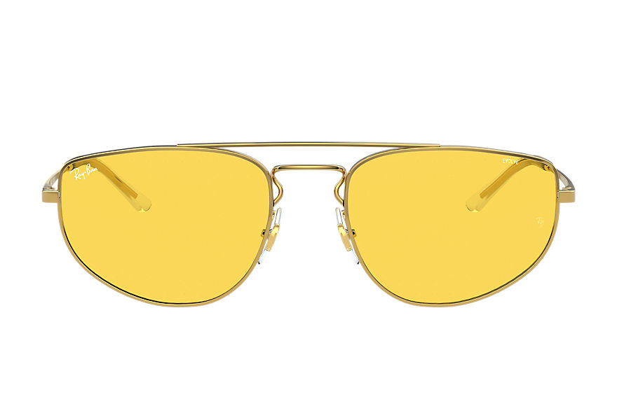 Ray-Ban Sunglasses RB3668 Shiny Gold with Yellow Photochromic lens