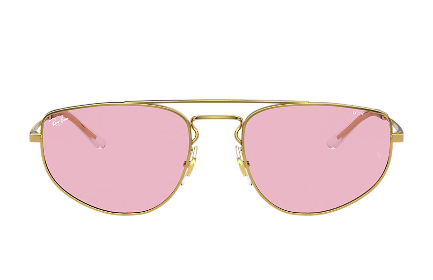Ray-Ban  sunglasses RB3668 UNISEX 001 rb3668 shiny gold 8056597370783