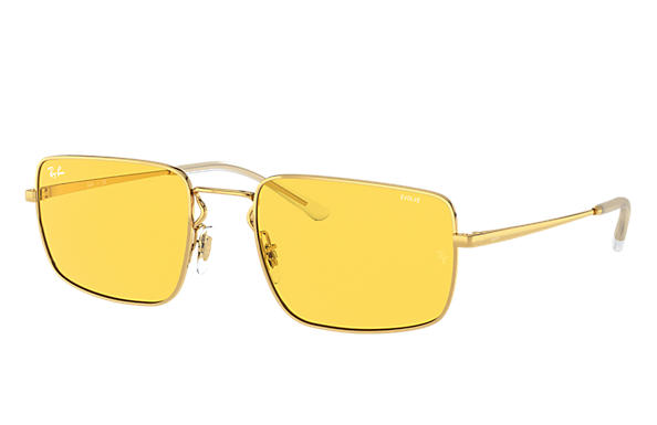 Ray-Ban Sunglasses RB3669 Shiny Gold with Yellow Photochromic lens