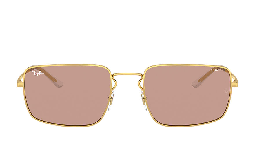 Ray-Ban  sunglasses RB3669 UNISEX 002 rb3669 shiny gold 8056597371377