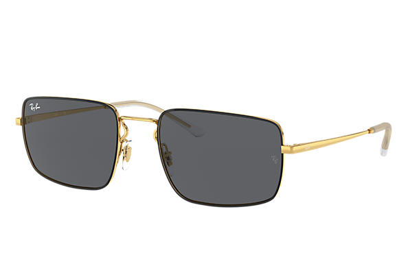 Ray-Ban Sunglasses RB3669 Shiny Gold with Grey Classic lens