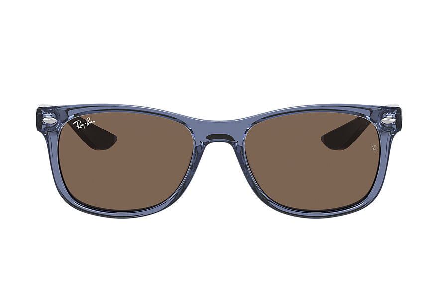 Ray-Ban  sunglasses RJ9052S UNISEX 001 new wayfarer junior shiny transparent blue 8056597371421