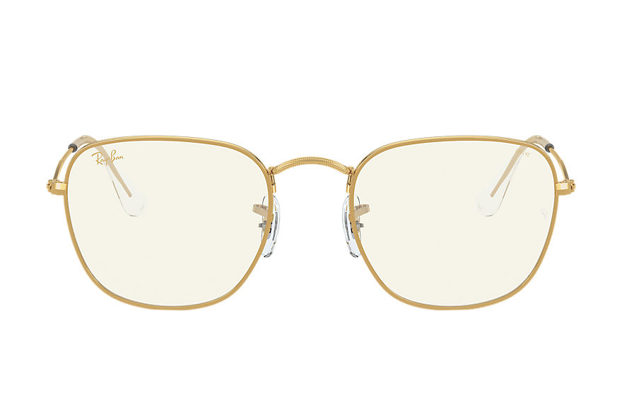 Ray-Ban Sunglasses FRANK BLUE-LIGHT CLEAR EVOLVE Gold with Grey Lente transparente fotocromática com filtro de luz azul lens