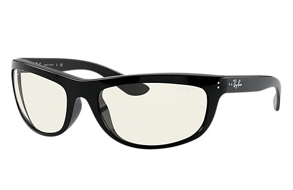 Ray-Ban Sunglasses BALORAMA BLUE-LIGHT CLEAR EVOLVE Shiny Black with Grey Clear Photocromic with Blue-Light Filter lens