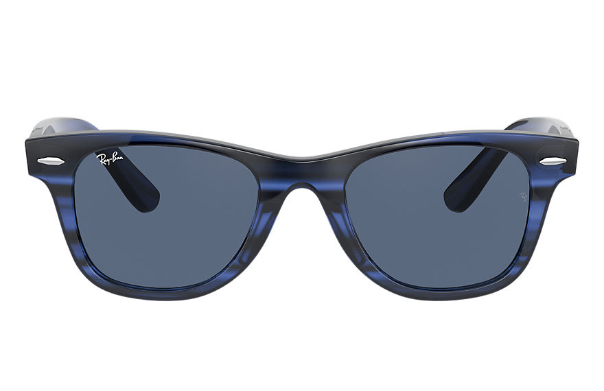 Ray-Ban Sunglasses WAYFARER JUNIOR Striped Blue with Blue Classic lens