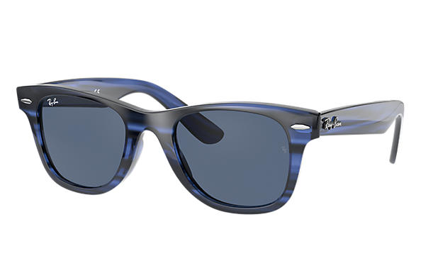 Ray-Ban 0RJ9066S-WAYFARER JUNIOR Striped Blue SUN