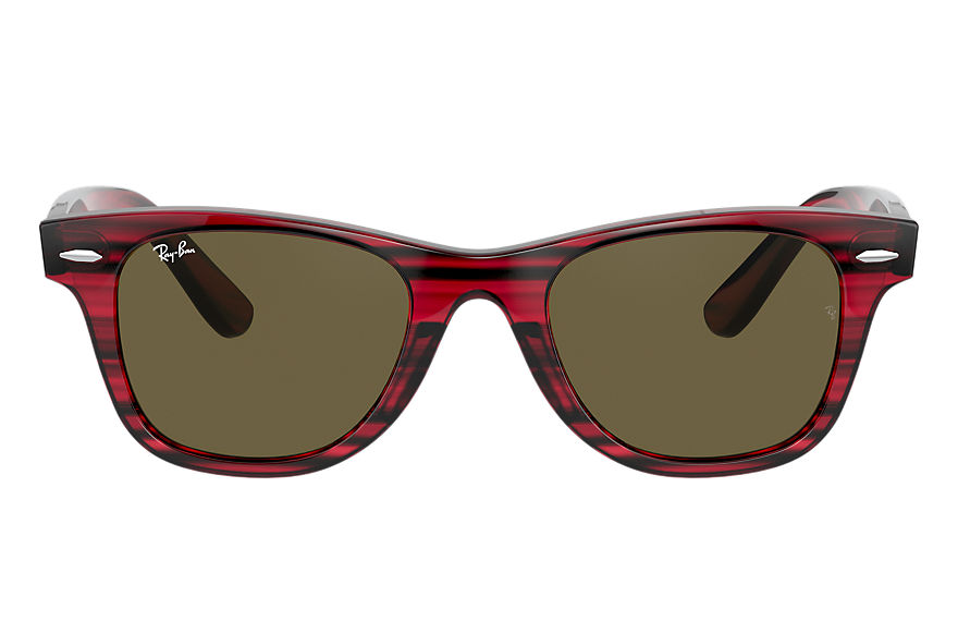 Ray-Ban  occhiali da sole RJ9066S UNISEX 002 wayfarer junior striped red 8056597378178