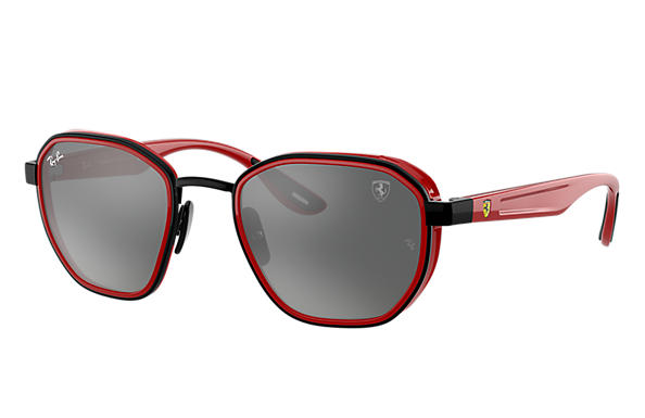 Ray-Ban Sunglasses RB3674M SCUDERIA FERRARI COLLECTION Black with Grey Mirror lens