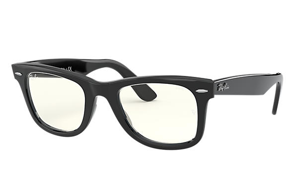 Ray-Ban Sunglasses WAYFARER CLEAR EVOLVE LOW BRIDGE FIT Shiny Black with Grey Clear Photochromic lens