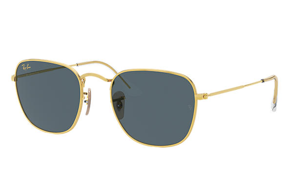 雷朋太阳镜 Sunglasses FRANK LEGEND GOLD 金色 藍色 經典 镜片