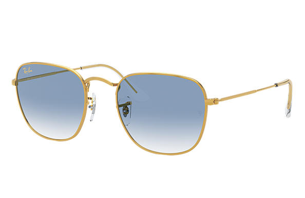 Ray-Ban Sunglasses FRANK LEGEND GOLD Gold with Light Blue Gradient lens