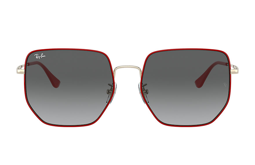 Ray-Ban Sunglasses RB3764D CNY EDITION Red with Grey Gradient lens