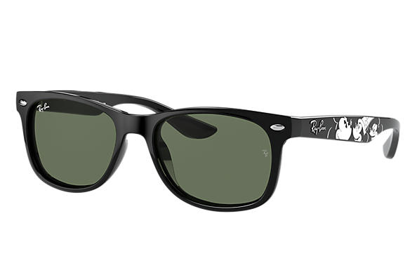 Ray-Ban Sunglasses RJ9052S JUNIOR NEW WAYFARER MICKEY S20 Black with Green Classic lens