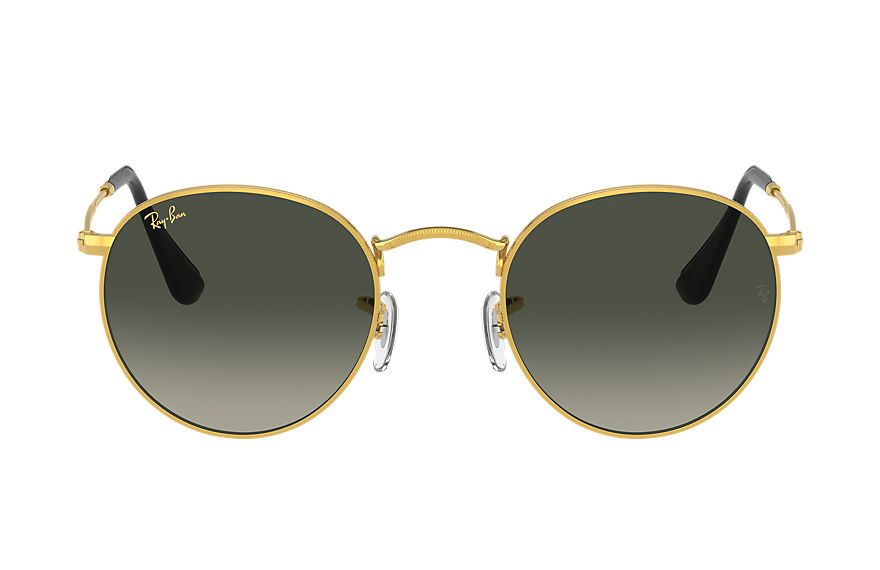 Ray-Ban  sunglasses RB3447 MALE 008 round metal online exclusive gold 8056597409162