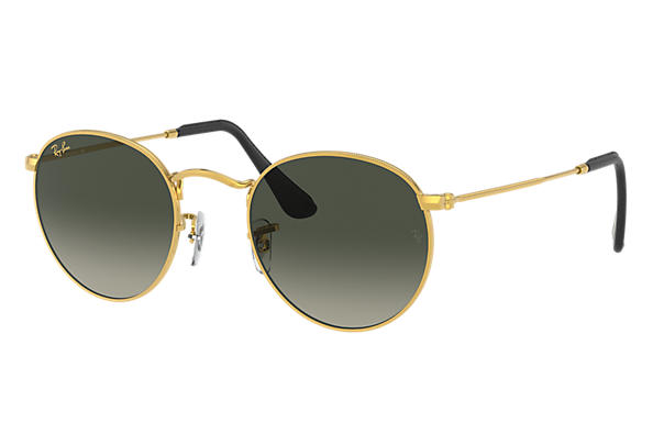 Ray-Ban Sunglasses ROUND METAL @COLLECTION Gold with Light Blue Gradient lens
