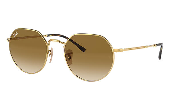 Ray-Ban Sunglasses JACK Gold with Light Brown Gradient lens