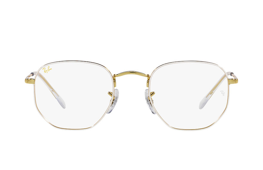 Ray-Ban  eyeglasses RX6448F UNISEX 001 hexagonal optics white 8056597448932