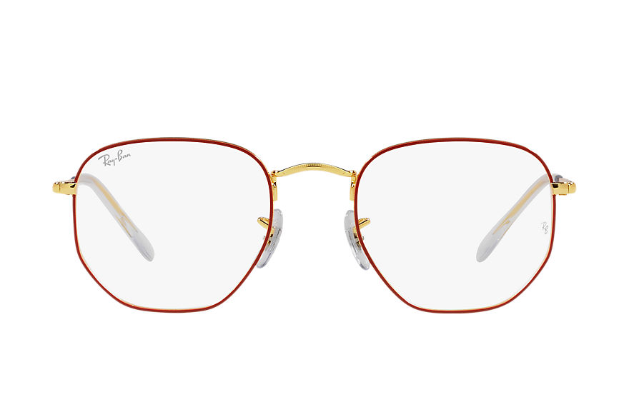 Ray-Ban  eyeglasses RX6448F UNISEX 001 hexagonal optics red 8056597448956