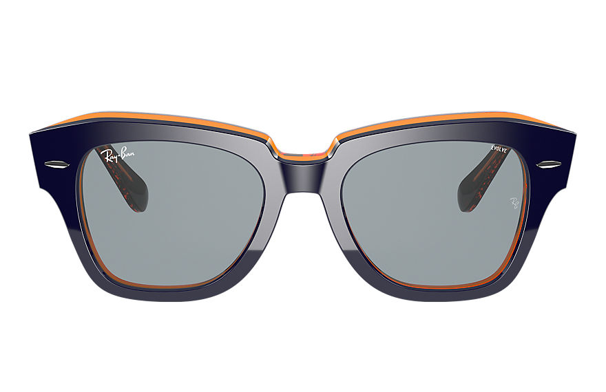 Ray-Ban Sunglasses STATE STREET ORANGE FLUO Blue on Orange Fluo with Blue Photocromic lens