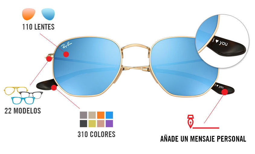 lentes ray ban polarizados de colores