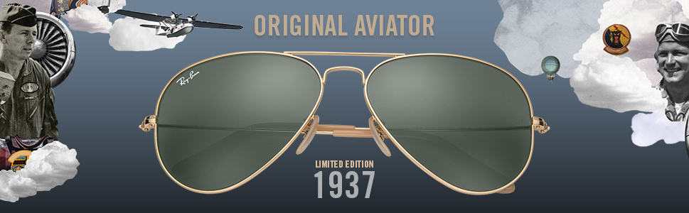 aee9a160e3 Ray-Ban Aviator 1937 RB3025 Gold - Metal - Green Lenses - 0RB3025001 ...