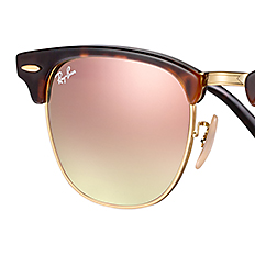 ray ban clubmaster braun gold