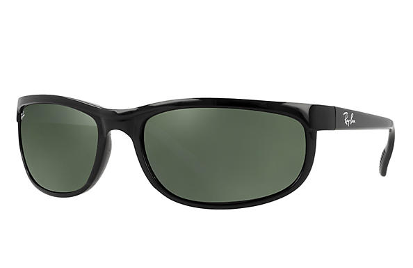 9fb9bf7dc3 Ray-Ban Predator 2 RB2027 Black - Nylon - Green Prescription Lenses ...
