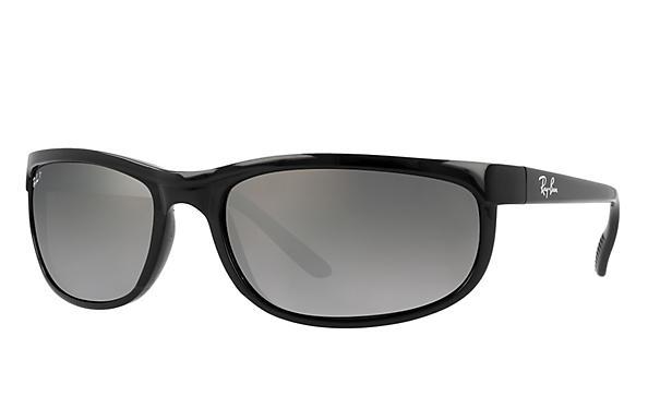 6e76aebbce Ray-Ban Predator 2 RB2027 Black - Nylon - Green Prescription Lenses ...