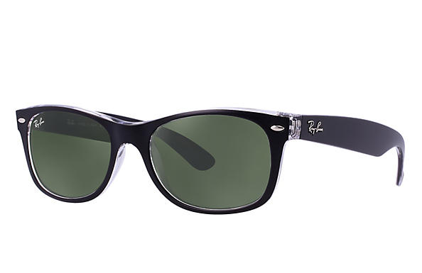 Ray-Ban 0RB2132-NEW WAYFARER Black,Transparent ROX_FRAME