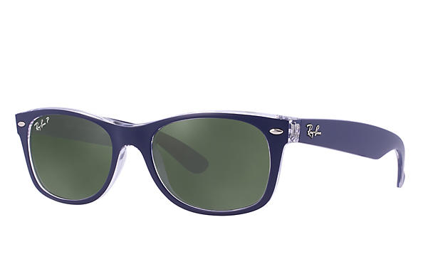 Ray-Ban 0RB2132-NEW WAYFARER Blue,Transparent ROX_FRAME