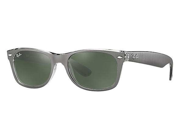 Ray-Ban 0RB2132-NEW WAYFARER Gunmetal,Transparent ROX_FRAME