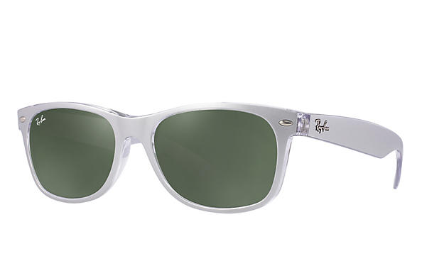 Ray-Ban 0RB2132-NEW WAYFARER Silver,Transparent ROX_FRAME