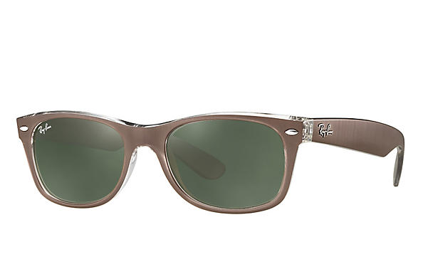 Ray-Ban 0RB2132-NEW WAYFARER Brown,Transparent ROX_FRAME