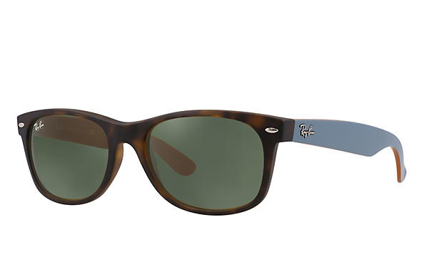 Ray-Ban 0RB2132-NEW WAYFARER Tortoise; Green,Brown ROX_FRAME