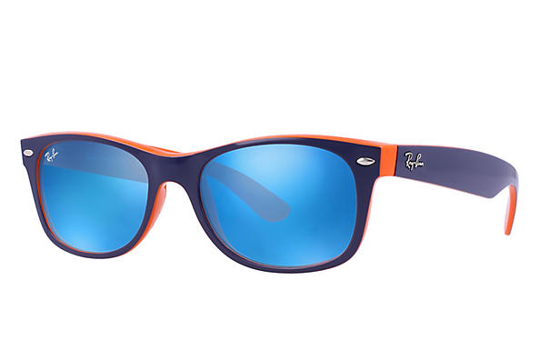 Ray-Ban 0RB2132-NEW WAYFARER Blau,Orange ROX_FRAME