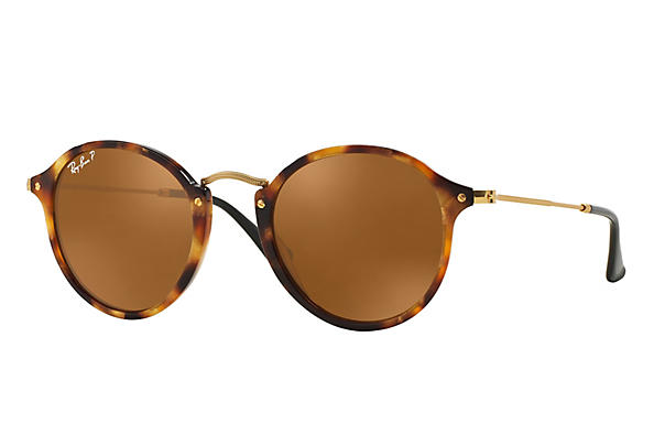 Ray-Ban  prescription sunglasses RB2447 UNISEX P006 round fleck tortoise RX_8053672358650?roxLensPartNumber=Brown_Classic_B 15_Polar_SV