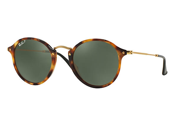 Ray-Ban ROUND FLECK Polished Tortoise