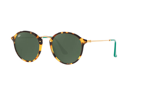 Ray-Ban 0RB2447-ROUND FLECK POP Tortoise; Gold ROX_FRAME