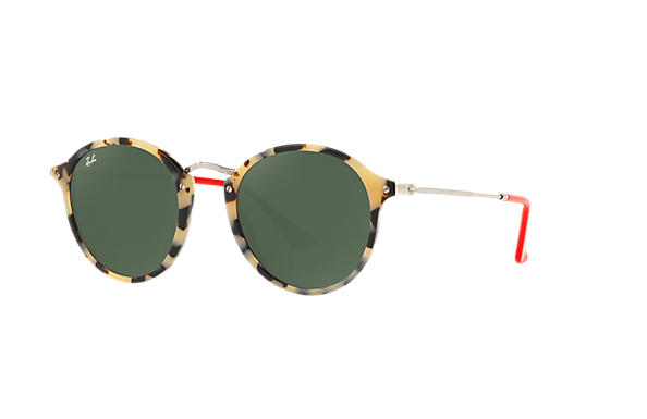 Ray-Ban 0RB2447-ROUND FLECK POP Tortoise; Silver ROX_FRAME