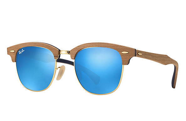 Ray-Ban 0RB3016M-CLUBMASTER WOOD Braun ROX_FRAME