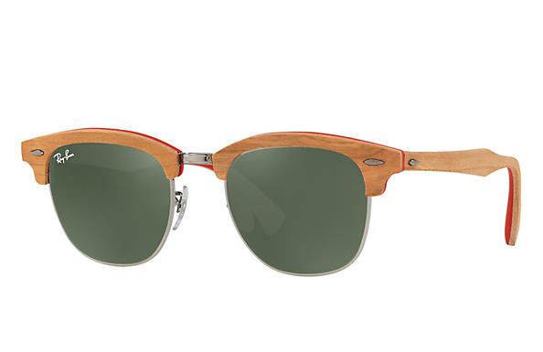 ray ban clubmaster wood eyeglasses
