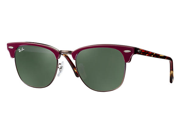 Ray-Ban 0RB3016-CLUBMASTER Bordeaux; Red ROX_FRAME