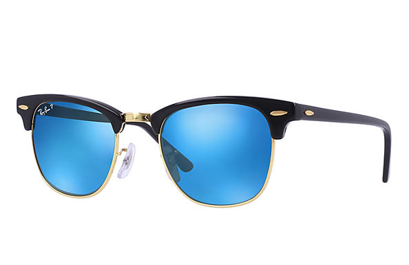 Ray-Ban  prescription sunglasses RB3016 UNISEX P018 clubmaster black RX_805289653653?roxLensPartNumber=Blue_Flash_Polar_SV
